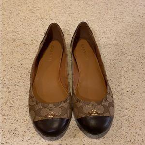 Coach brown women's shoes